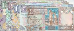 LIBYA 1/4 1/2 1 5 10 DINARS 2002 P-62 63 64 65 66 UNC SET LOT */* - Libya