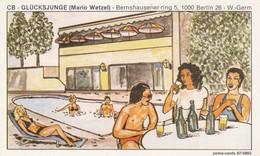 Postcard Glucksjunge [ Mario Wetzel ] Bernshausener Ring 5 1000 Berlin 26 West Germany My Ref  B13476 - Germany