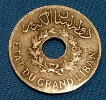 LEBANON - 1 PIASTRE - 1925 - KM 3 - Agouz - Libanon