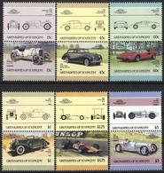 GRENADINES OF SAINT VINCENT ST. VINCENT CAR AUTO 6 STAMPS SET MNH - Auto's