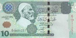 LIBYA 10 DINARS 2004 P-70a SIG/ 9 MUNEISI UNC */* - Libya