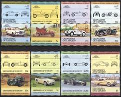 GRENADINES OF SAINT VINCENT ST. VINCENT CAR AUTO 8 STAMPS SET MNH - Auto's