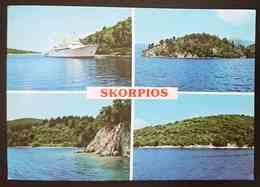 LEFKAS - SKORPIOS - Greece - Boat  Vg - Grecia