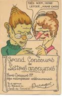 GRAND CONCOURS DE LETTRES ANONYMES  Humour Femmes Caricature - Humor