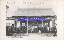 116844 CHINA APOSTOLIC VICARIATE OF THE HOANAN HOUSE OF MISSIONARIES POSTAL POSTCARD - Chine