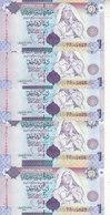 LIBYA 1 DINAR 2009 P-71 SIG/7 Bengadara LOT X5 UNC NOTES  */* - Libya