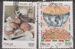 Italy Republic S 2091-2092 1994 Italian Cuisine 1st Issue, Used - 1991-00: Afgestempeld