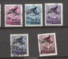 1942  66-70  FLUGPOST KOENIG PETAR FLUGZEUG  SERBIA SERBIEN DEUTSCHE BESETZUNG    USED - Besetzungen 1938-45