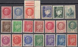 FRANCE - 1941/1942 - Lotto Di 22 Valori Nuovi MNH:  Yvert 505/521, 522/524. - Unused Stamps