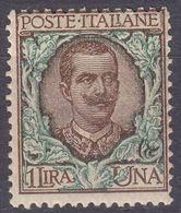 ITALIA - 1901 - Yvert 73 Nuovo Senza Linguella. - 1900-44 Vittorio Emanuele III