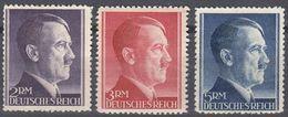 ALLEMAGNE -  DEUTSCHLAND - GERMANIA - 1941/1942 - Tre Valori Nuovi Senza Gomma: Yvert 724/726. - Deutschland