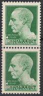 ITALIA - 1929 - Due Yvert 241 Nuovi Senza Gomma, Uniti Fra Loro. - Used