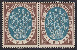 GERMANIA REICH - 1919 - Coppia Di Yvert 107 Uniti Fra Loro, Nuovi Senza Gomma. - Germany