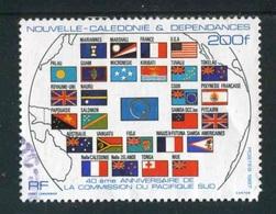 """TIMBRE Oblit. De 1987 """"200 F -  """"40e Anniversaire De La Commission Du Pacifique Sud"""" - New Caledonia"""