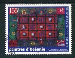 """TIMBRE Oblit. De 2000 """"155 F -  """"Peintres D'Océanie Gilles Subileau"""" - Usados"""
