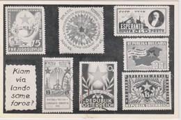 AKEO Card About The First Esperanto Stamps - Karto Pri La Unuaj Esperanto Posxtmarkoj - Esperanto