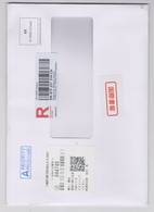 Liechtenstein Envelope Port Payé - Registered - Bar Code - QR Code - Andere