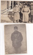 PHOTO 506è RCC Groupe De Tankistes Militaires à Besançon Caserne De La Butte (1925) + 1 Tankiste Seul - LOT DE 2 PHOTOS - Guerra, Militari
