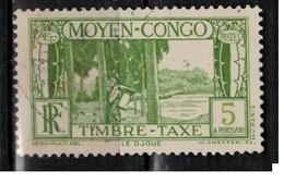 CONGO             N°     YVERT   TAXE 23  OBLITERE       ( Ob  3/47 ) - French Congo (1891-1960)