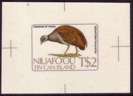 Tonga Niuafoou 1983 Cromalin  Proof - Bird - Megapode Bird - 5 Exist - Sin Clasificación