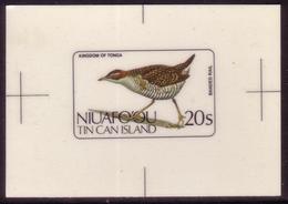 Tonga Niuafoou 1983 Cromalin  Proof - Bird - Banded Rail - 5 Exist - Sin Clasificación