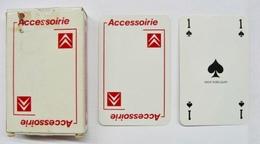 JEU DE 52 CARTES + 2 JOKER AVEC ETUI ACCESSOIRIE LOGO CITROEN / CARTE MUNDI BELGIUM - Cartes à Jouer Classiques