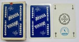 JEU DE 32 CARTES AVEC ETUI VETEMENTS BAYARD GAVARINI FRERES ST-JEAN-DE-MAURIENNE / CARTES A JOUER HERON - Cartes à Jouer Classiques