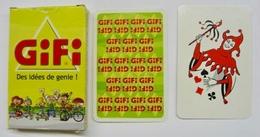 JEU DE 32 CARTES + 1 JOKER AVEC ETUI GIFI DES IDEES DE GENIS AVEC GRATTEZ 2003 / MADE IN FRANCE - Cartes à Jouer Classiques