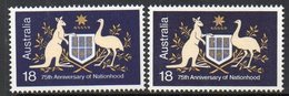 AUSTRALIA, 1976 NATIONHOOD(BOTH DIES) 2 MNH - Neufs