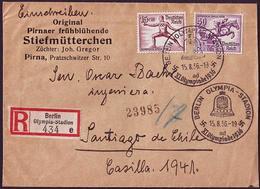 Germany - 1936 V - Olympic Games 1936 - Letter - Sommer 1936: Berlin