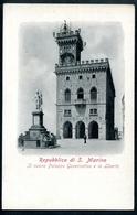 Repubblica Di S. Marino, Um 1910, Il Nuovo Palazzo Governativo E La Liberta, - San Marino