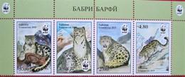 Tajikistan  2019  WWF Snow Leopard, Animals, Mountains   4 V  Perforated.  MNH - Autres