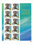 Australia 2000 Sydney Olympic Game Gold Medal Winners Swimming Men's 400m Freestyle Ivan Thorpe Sheetlet - Summer 2000: Sydney - Paralympic