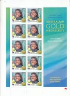 Australia 2000 Sydney Olympic Game Gold Medal Winners Athletics Women's 400m Cathy Freeman Sheetlet - Sommer 2000: Sydney - Paralympics