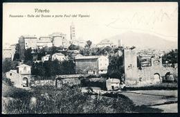 Viterbo, Um 1910, Panorama, Colle Del Duomo E Porta Faul (del Vignola), Zefferino Mattioli - Viterbo