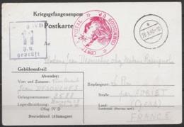 """Carte De Prisonnier (Kriegsgefangenenpost) Du Stalag IVD Pour LE PIN (Gers) 28-8-1940 - Cachet Censure & """"Contrôle Posta - Storia Postale"""