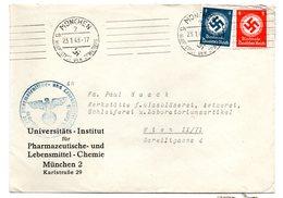 Deutschland, 1943, Briefkuvert Frankiert Mit 4 Und 8Pf/Dienstmarken Und SStpl. (17473E) - Germany