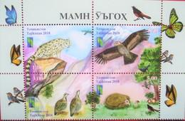 Tajikistan  2018  Reserve  RCC, Butterflies, Birds, Animals, Mountains  Mushrooms 4 V   MNH - Papillons