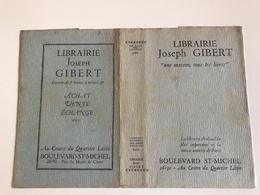 Protege Livre - Librairie Joseph GIBERT «une Maison, Tous Les Livres»  - PARIS Bd Michel - Vloeipapier