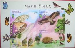 Tajikistan  2018  Reserve  RCC, Butterflies, Birds, Animals, Mountains  4 V  IMPERFORATED  MNH - Tadjikistan
