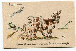 CPA  Illustrateur :   XAV  Vaches Les Cornes  A  VOIR  !!!!!! - Autres Illustrateurs