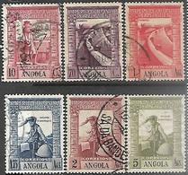 Portugese Angola   1938   6 Diff Including Sc#286-9   Vasco De Gama Used  2016 Scott Value $4.20 - Angola
