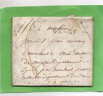 """Linéaire """"GÊNES"""",correspondance Du 23/9/1808 Pour JOUX (Rhône) - 1792-1815: Conquered Departments"""