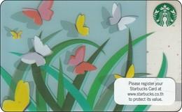 Thailand Starbucks Card Spring Butterflies  2012 - 6085 - Gift Cards