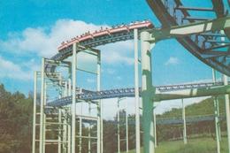 Pyongyang North Korea Amusement Park Roller Coaster Postcard - Corea Del Nord