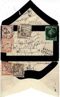 1912- Env.E P 5 C TAXEE Suivant La Loi Du 8 Avril 1911 à 2 , 10 F  Trois  Fois - Postage Due Covers