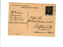 Ganzsache GG P 3II 08-1938: 31.07.40 Sanok, Jasliska Nach Tabor/B&M, Übersetzung - Occupation 1938-45