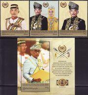 Malaysia 2019-9 Coronation Of Yang Di-Pertuan Agong Set+M/S MNH Royalty Unusual (gold Ink Printing) - Malaysia (1964-...)