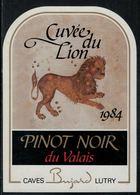 """Etiquette De Vin // Pinot Noir Du Valais, Signe Du Zodiac """"Le Lion"""" - Sin Clasificación"""