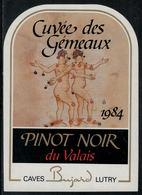 """Etiquette De Vin // Pinot Noir Du Valais, Signe Du Zodiac """"Les Gémeaux"""" - Sin Clasificación"""
